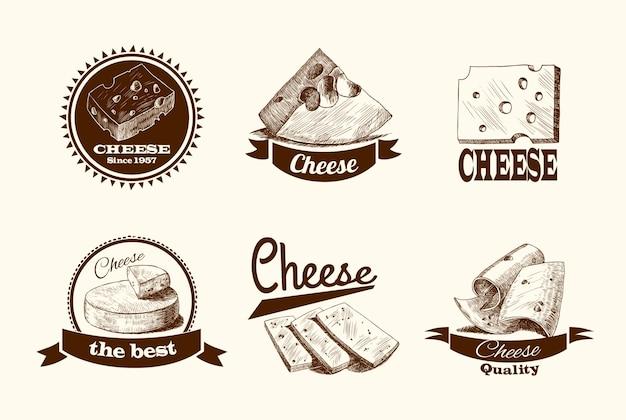 Коллекция старинных значков сыра