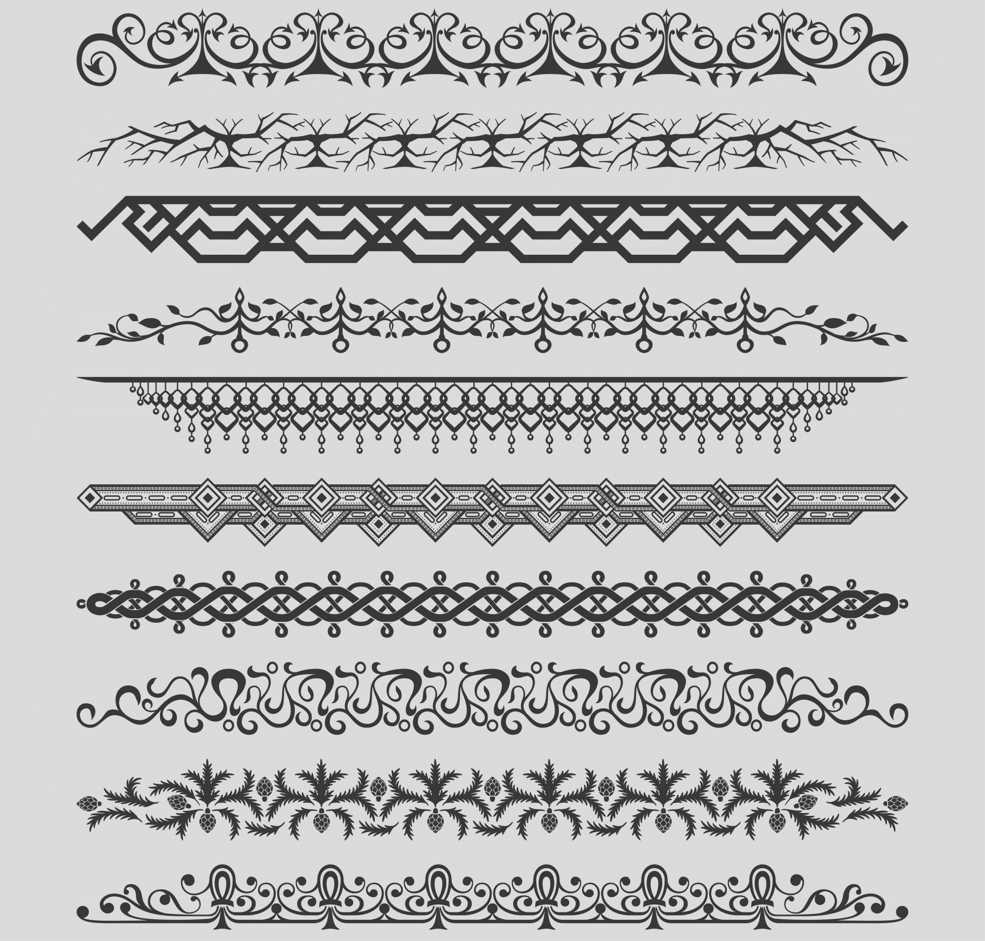 Collection of vintage dividers