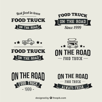 Collection of vintage food truck logo