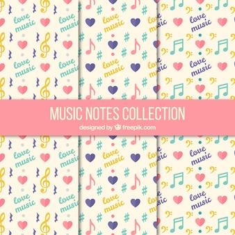 音符のヴィンテージ・パターンのコレクション