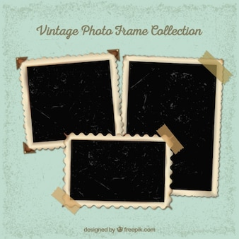 Collection of vintage photography frames