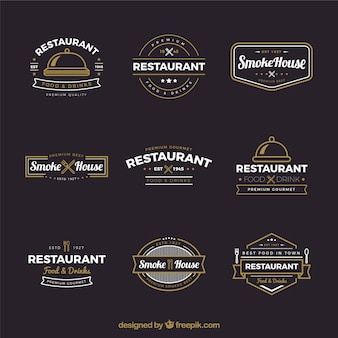 ヴィンテージレストランロゴのコレクション