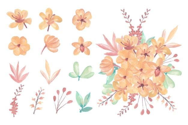 수채화 꽃 예술 꽃다발 컬렉션