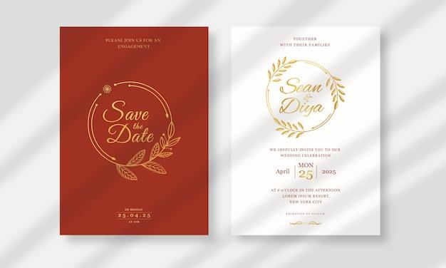 結婚式の招待カードテンプレートのコレクション
