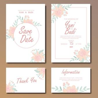 結婚式の招待状の花のコレクション