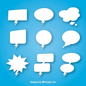 Коллекция белого пузыря речи