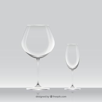 Коллекция бокалов в реалистичном стиле