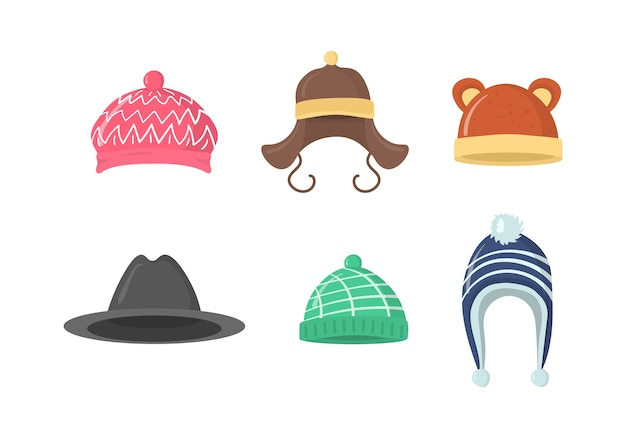 冬の帽子のコレクション