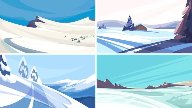 겨울 풍경 모음. 아름다운 도시가 아닌 장면.