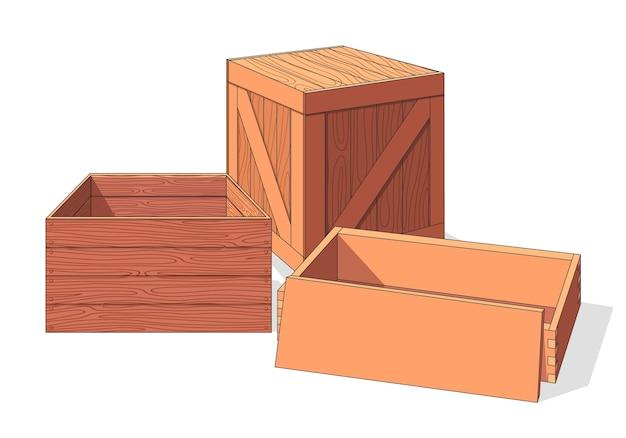 木箱アイソメトリックのコレクション