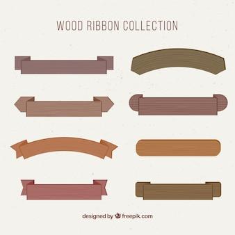 木製のリボンのコレクション