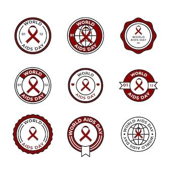 世界エイズデーラベルのコレクション