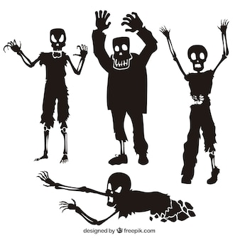 Collection of zombie silhouettes
