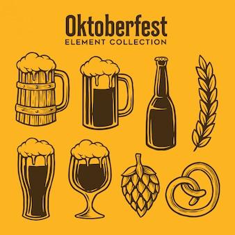 Collection of oktoberfest element