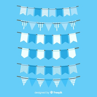 Collection of oktoberfest garland flat design