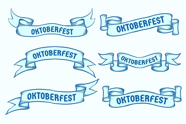 Collection of oktoberfest ribbons