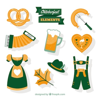 Collection of oktoberfest traditional complements