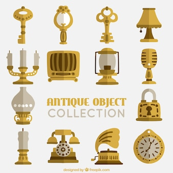 Collection of old flat objects