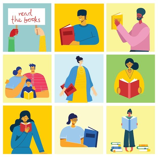 本を読んでいる人のコレクション