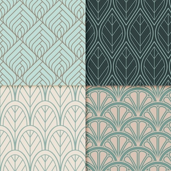 Collection of ornamental art deco patterns