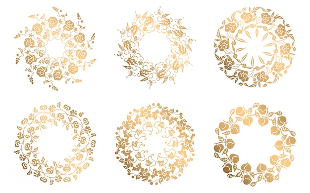 Collection of ornamental decorative elements