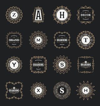 Collection of ornamental logos