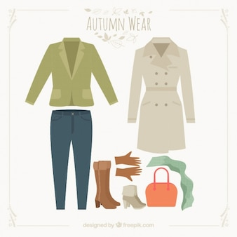 Collection of outfit for autumn