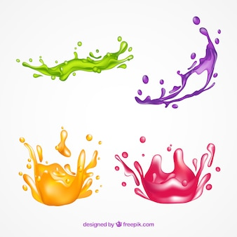 Collection of paint splashes