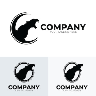 Collection of panther roaring logo design inspiration