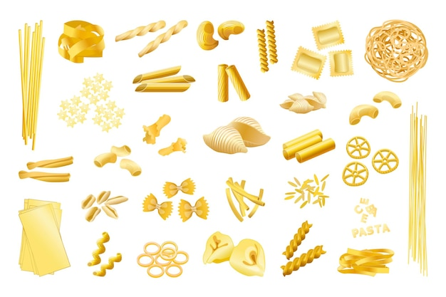 Collection of pasta signs