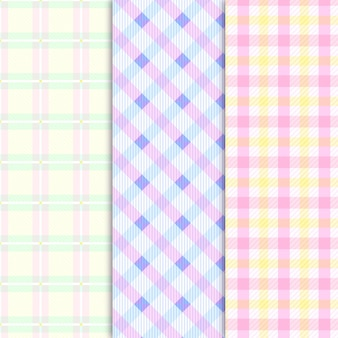 Collection of pastel-coloured gingham pattern