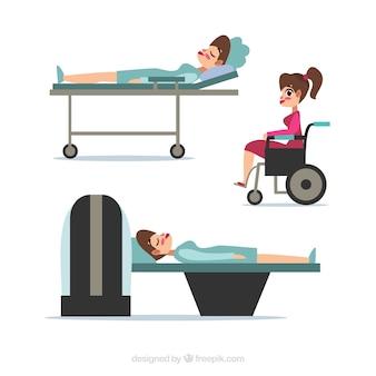 Collection of patients Premium Vector