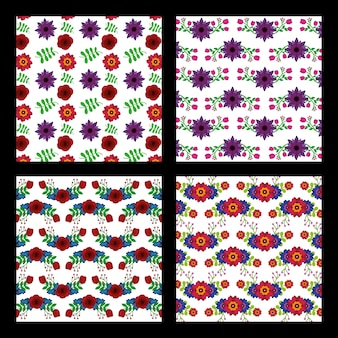 Collection of pattern floral flowers natural decortive