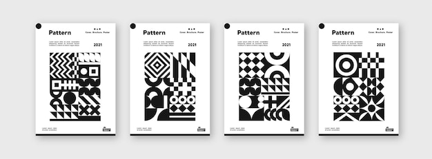 Collection of pattern templates for branding covers design layout bundle poster