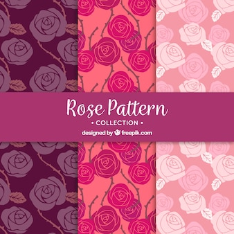 Collection of patterns of beautiful roses