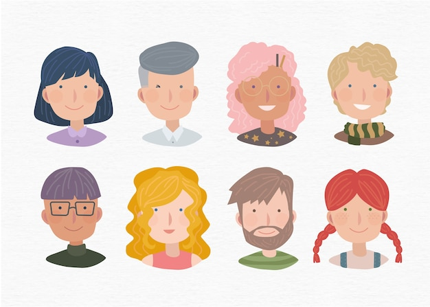 Collection of people avatars