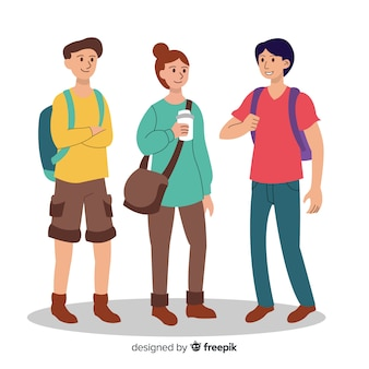 Collection of people going to university
