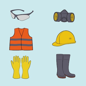 A collection of personal protective equipment