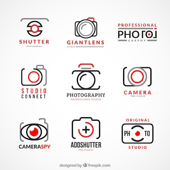 Collection of photography logos