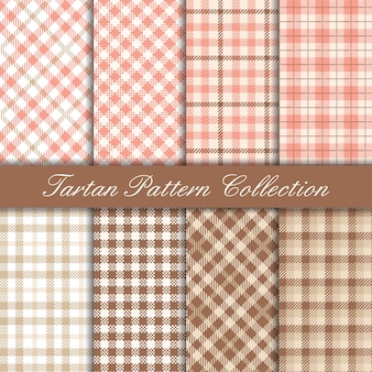 Collection of pink elegant tartan pattern