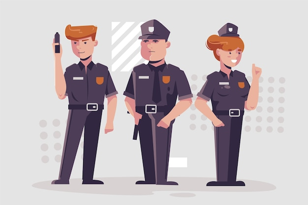 Collection of police illustration