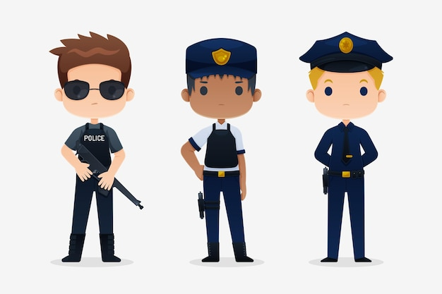 Collection of police people
