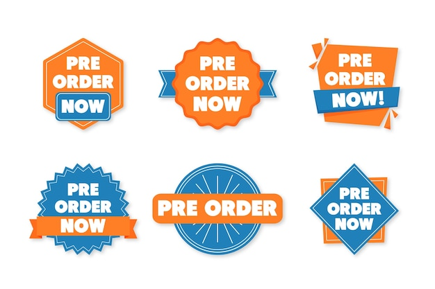 Collezione di etichette pre-ordine