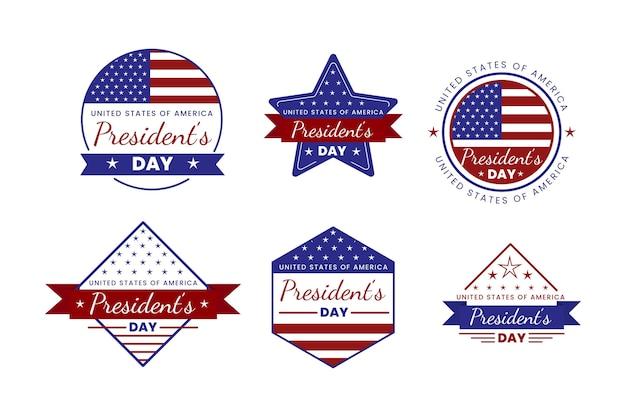 Raccolta dei distintivi del giorno del presidente