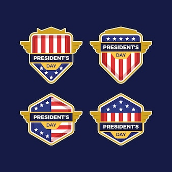 Collection of president's day labels