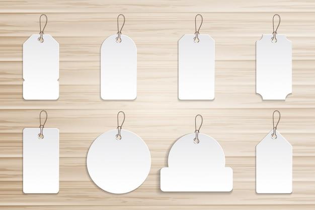 木の板のコレクション値札