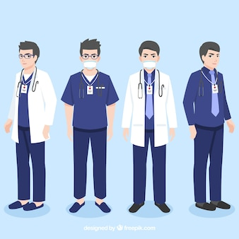 Collection of professional doctors