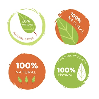Raccolta di modello di logo naturale puro
