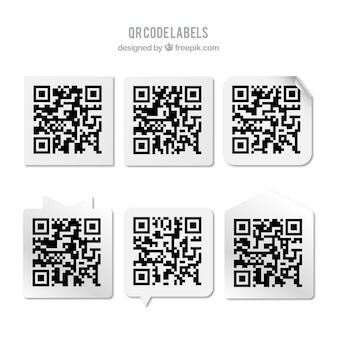Collection of qr code stickers