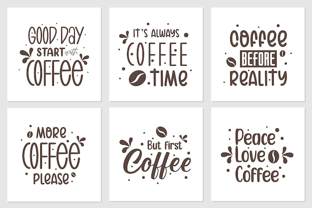 A collection of quotes about coffee.